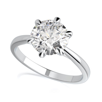 Vada Engagement Ring - Diamond Solitaire - Platinum