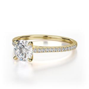 Effie Engagement Ring Mounting - Yellow Gold - Solitaire