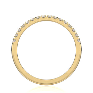 Tatiana Wedding Band - Diamond - Yellow Gold - Anniversary Band