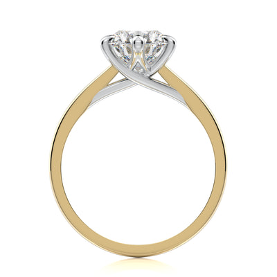 Vada Engagement Ring - Diamond Solitaire - Yellow Gold