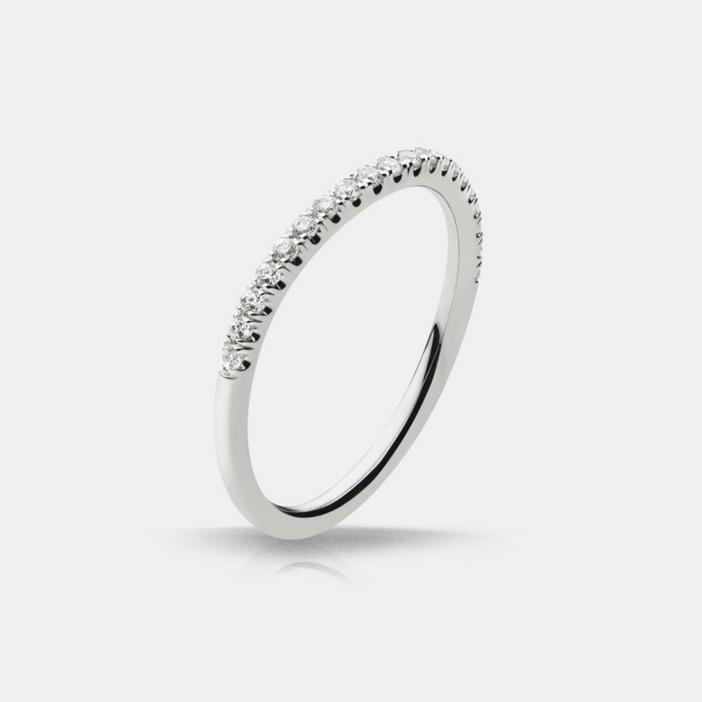 Autumn Diamond Wedding Band - White Gold