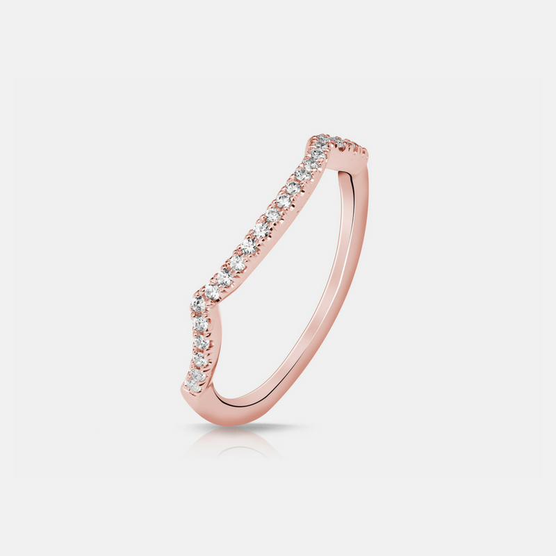 Celma Wedding Band - Rose Gold - Diamonds