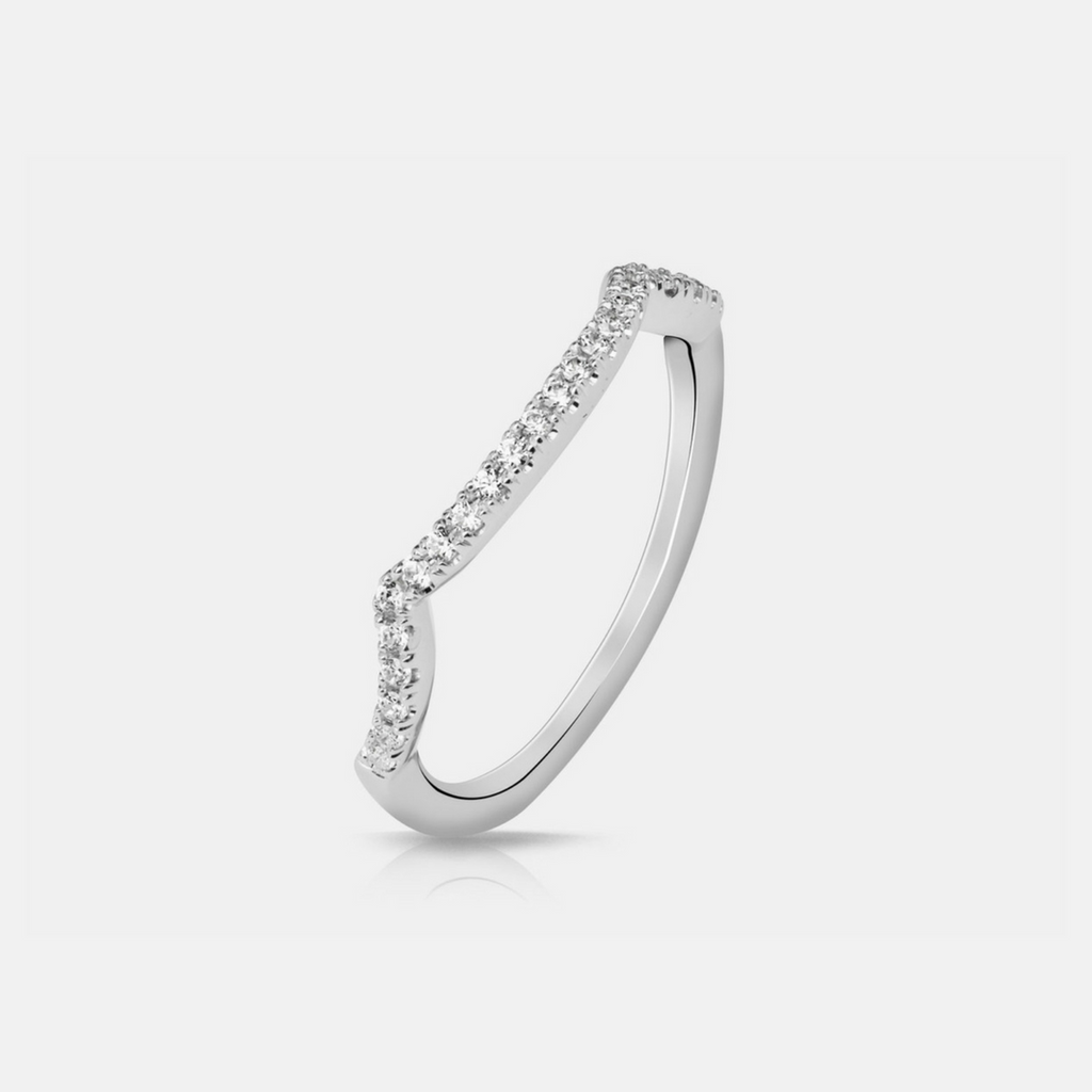 Celma Wedding Band - White Gold - Diamonds