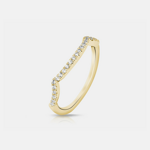 Celma Wedding Band - Yellow Gold - Diamonds