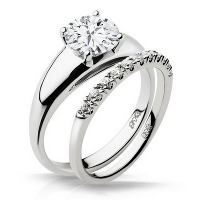 Charlize Diamond Engagement Ring with Wedding Band - Naledi