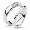 Claire Solitare Diamond Engagement Ring Design with Wedding Band - Naledi