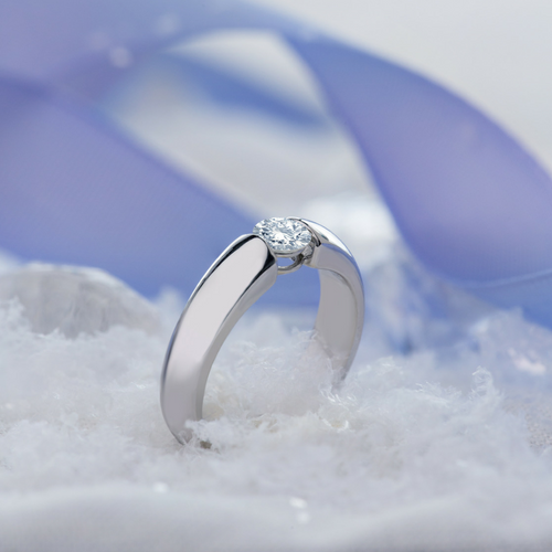 Claire Solitare Diamond Engagement Ring Design - Naledi