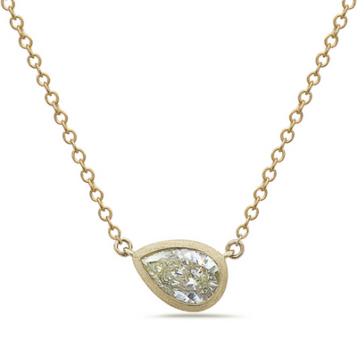Dilamani Yellow Pear-Shaped Diamond Pendant