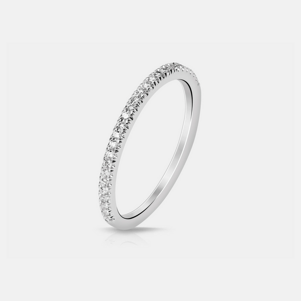 Effie Wedding Band - White Gold