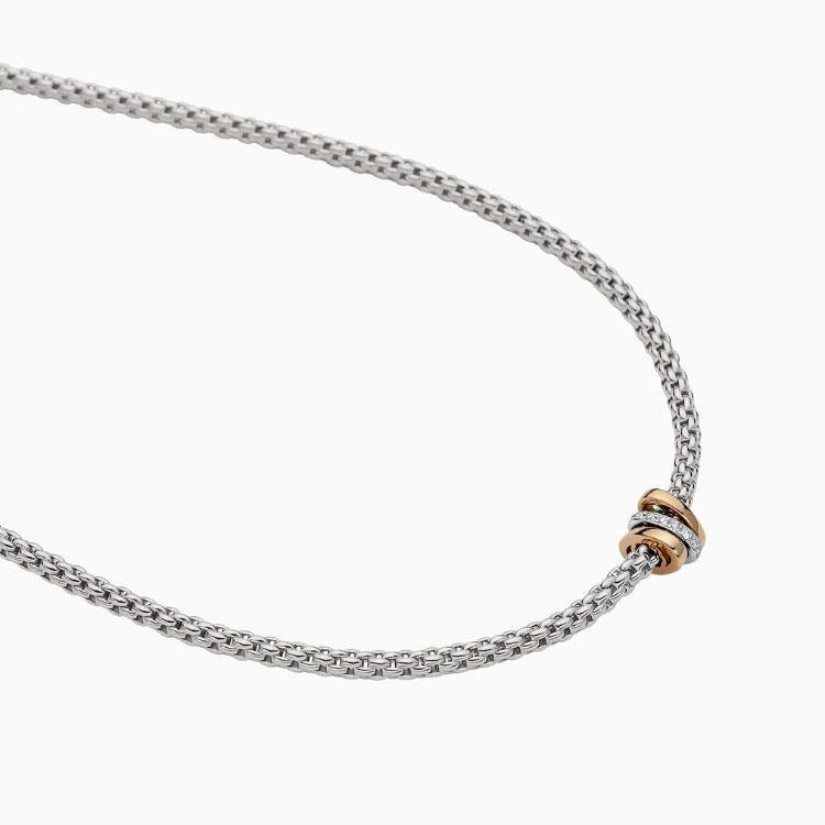 FOPE Prima Necklace in 18ct White Gold