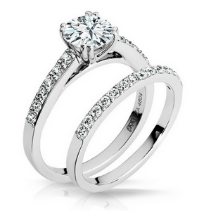 Gabriella Diamond Engagement Ring & Wedding Band - Naledi