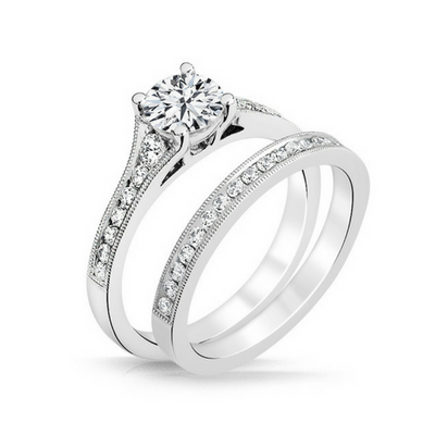 Heather Diamond Engagement Ring & Wedding Band - Naledi