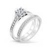 Heather Diamond Engagement Ring & Wedding Band - Naledi - Diamond Solitaire - White Gold