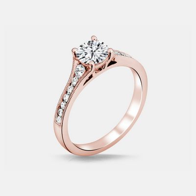 Heather Diamond Engagement Ring - Naledi - Diamond Solitaire - Rose Gold