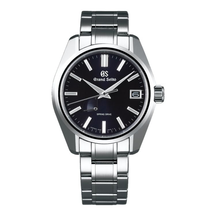 Grand Seiko Heritage SBGA375 - Midnight Blue Dial Steel Case Watch