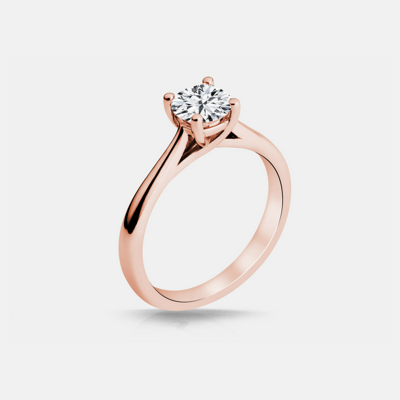 MacKenzie Diamond Solitaire Engagement Ring & Wedding Band - Naledi - White Gold