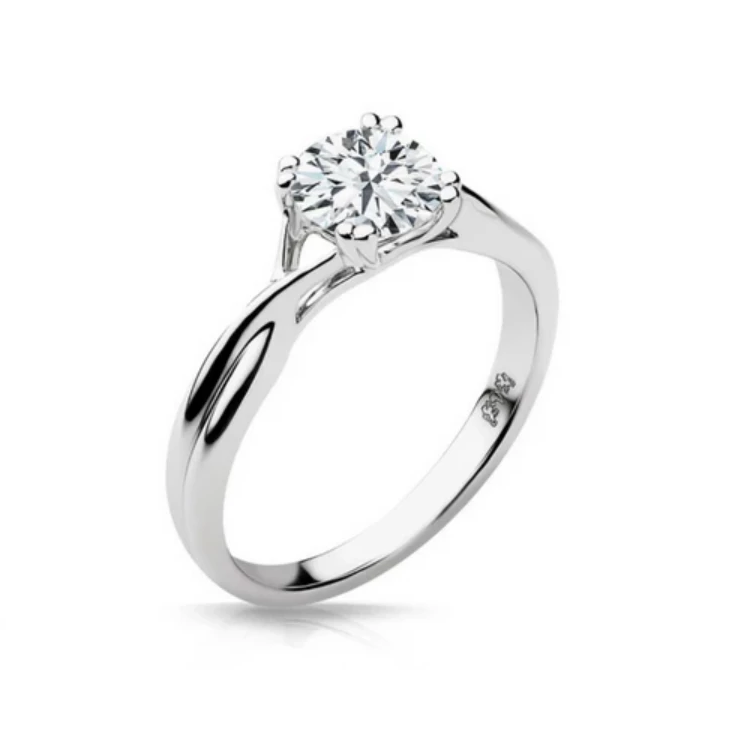 Madison Diamond Solitare Engagement Ring - Naledi