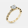 Noa Engagement Ring Mounting - Yellow Gold - Diamond Solitare