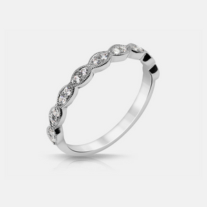 Noa Wedding Band - Diamonds - White Gold