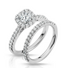 Pippa Diamond Solitare Halo Engagement Ring & Wedding Band - Naledi