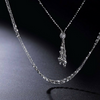 Platinum Born Adjustable Triple Chain Lariat Necklace
