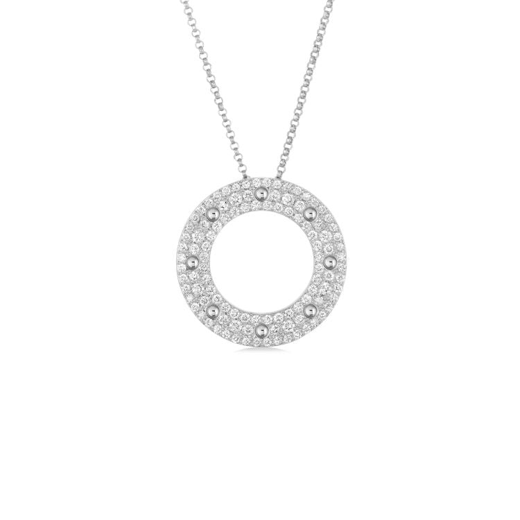 Roberto Coin Pois Moi Pendant Necklace 18k white gold diamonds