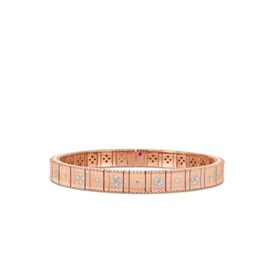 Roberto Coin Princess Flower Satin Bracelet in 18k Rose Gold