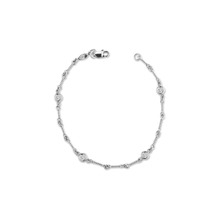 Dog Bone Bracelet by Roberto Coin in 18ct white gold