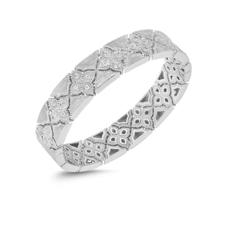Roberto Coin Venetian Princess Bangle in White Gold
