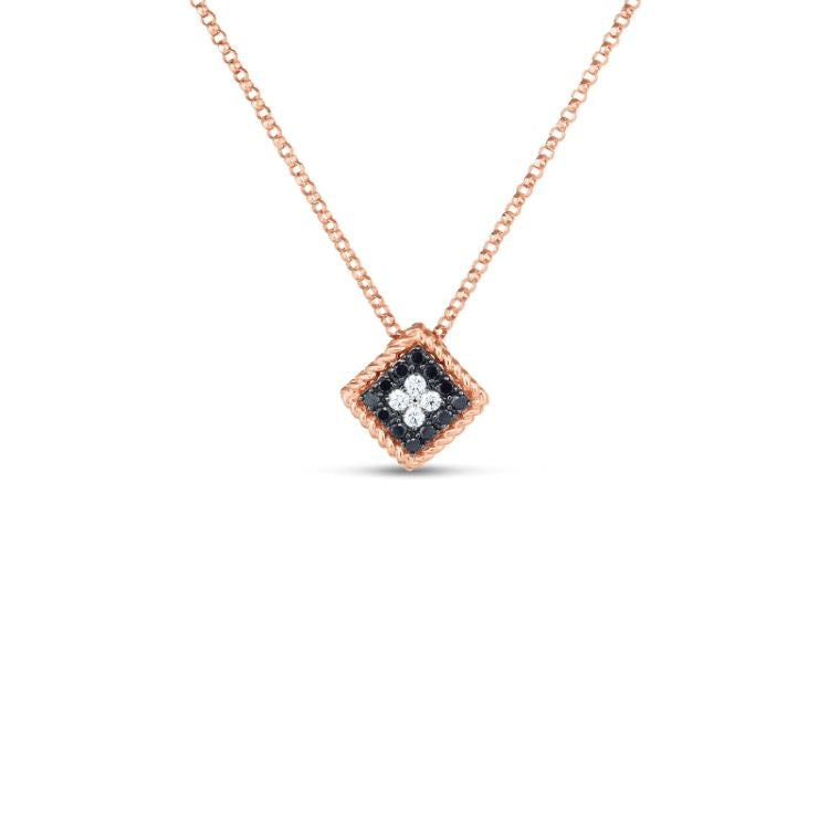 18ct rose gold palazzo ducale pendant necklace from roberto coin