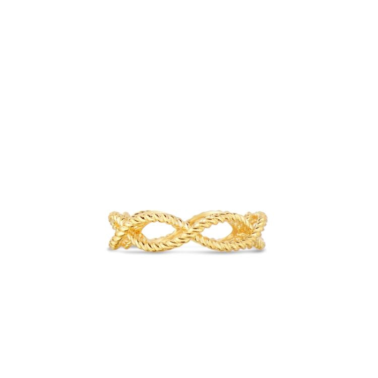 Roberto Coin Barocco Braided Ring in 18ct Yellow Gold