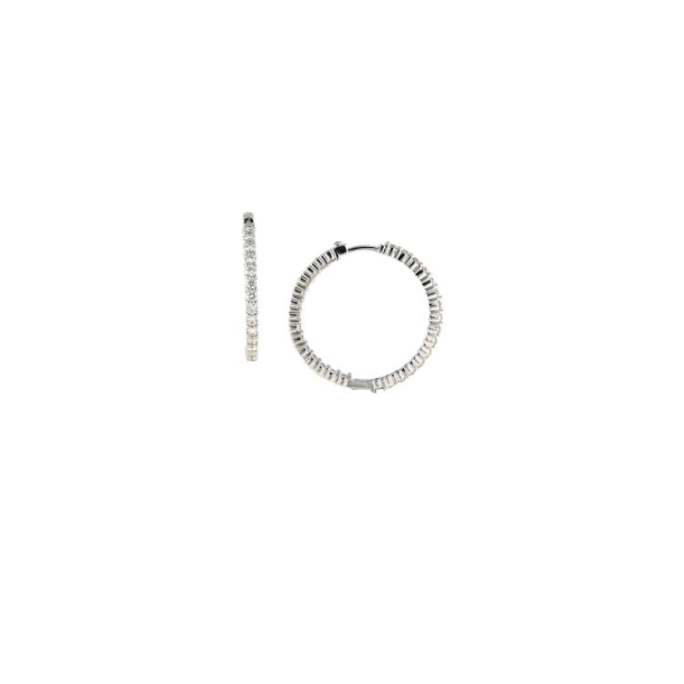 18ct white gold, perfect diamond hoops (30mm) by Roberto Coin