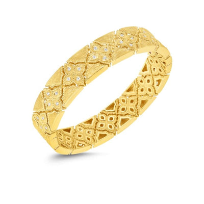 Roberto Coin Venetian Princess Bangle in Yellow Gold