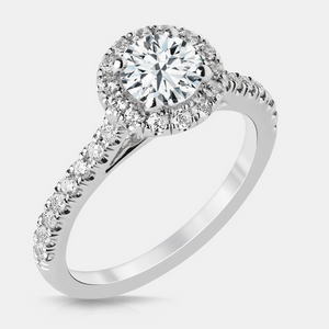 Robyn Diamond Solitare Halo Engagement Ring - Naledi