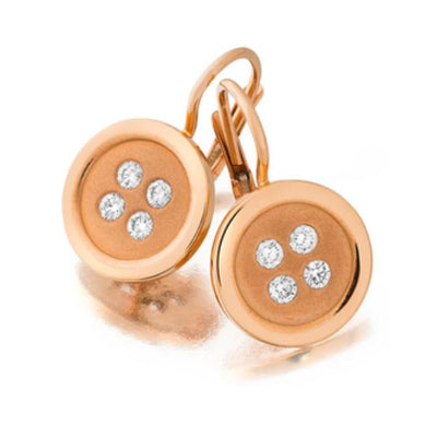 Button Earrings rose gold