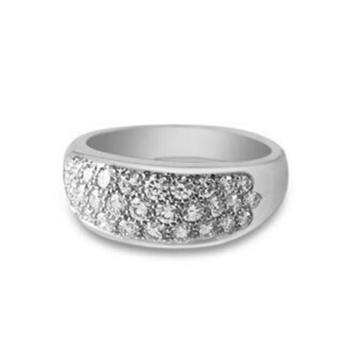 Pavé Diamond Ring Platinum