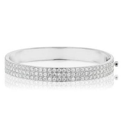 pave bangle bracelet white gold