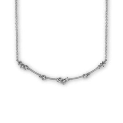 Constellation Star Cluster Necklace White Gold