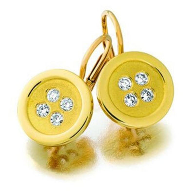 Button Earrings yellow gold