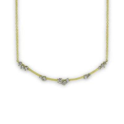 Constellation Star Cluster Necklace Yellow Gold