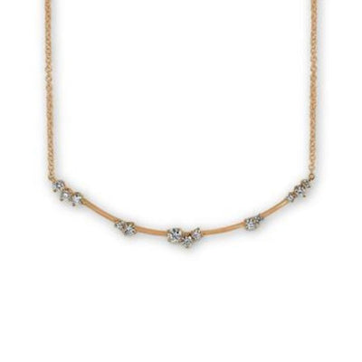 Constellation Star Cluster Necklace Rose Gold