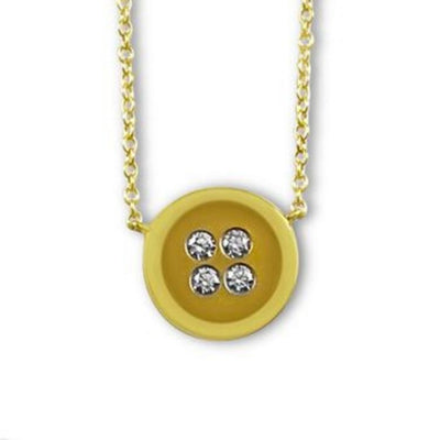 Button Necklace yellow gold