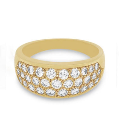 Pavé Diamond Ring Yellow Gold