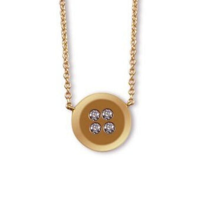Button Necklace rose gold