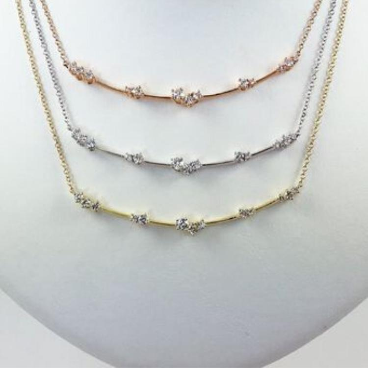 Constellation Star Cluster Necklace Gold Options
