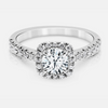 Tatiana Engagement Ring Mounting - Diamond Halo - Round Brilliant - White Gold