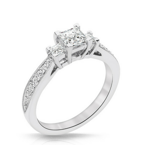 Trista 3 Diamond Engagement Ring - Naledi