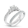 Trista 3 Diamond Engagement Ring & Wedding Band - Naledi
