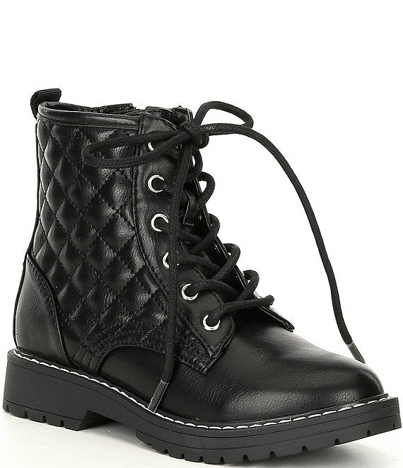 Steve Madden Kids - J-Bettyy Quilted Moto Boots