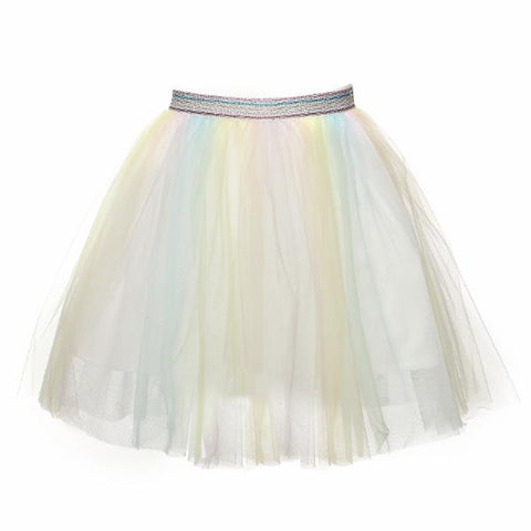 Elastic Waist Ombre Tulle Middi Skirt - This Little Piggy